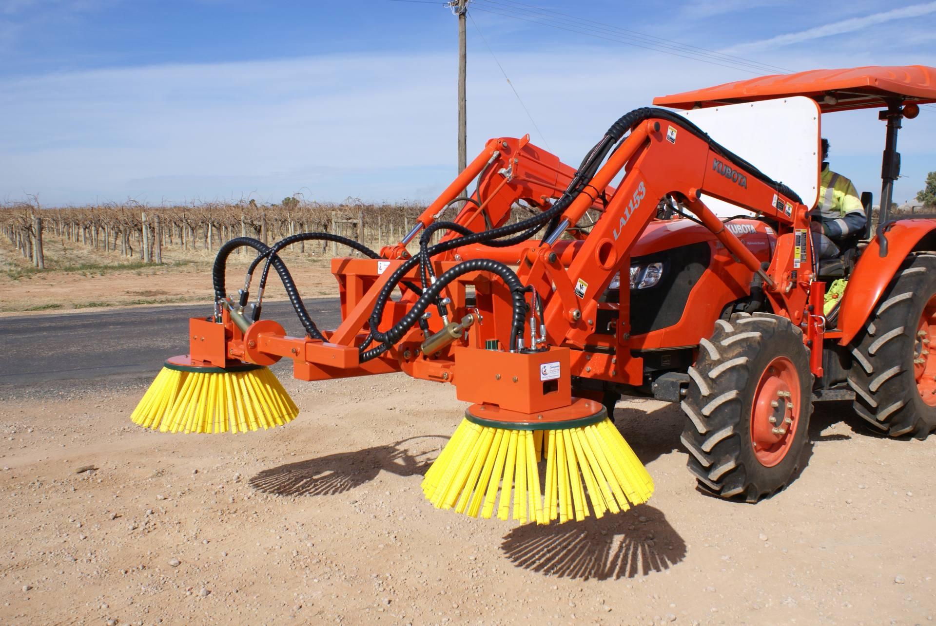 front end loader sweeper